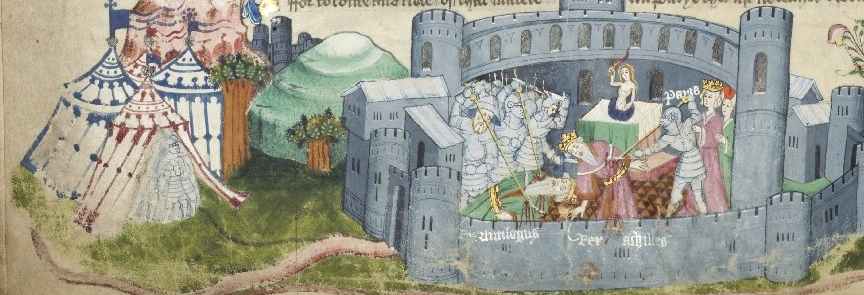 The Siege of Troy from Rylands MS English 1